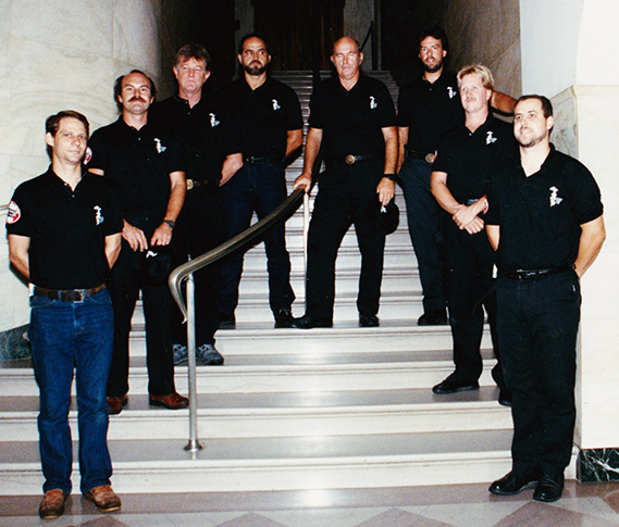 St. Louis Chimney Sweep Team at Clean Sweep working on The White House.